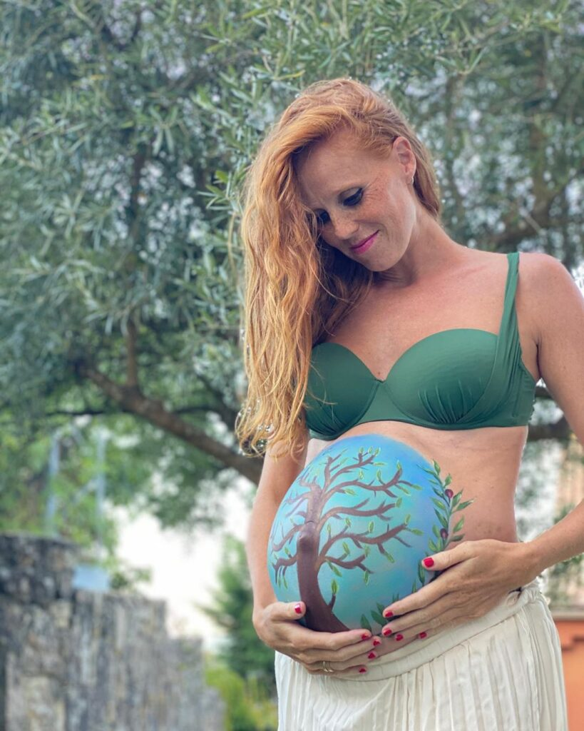María Castro embarazada