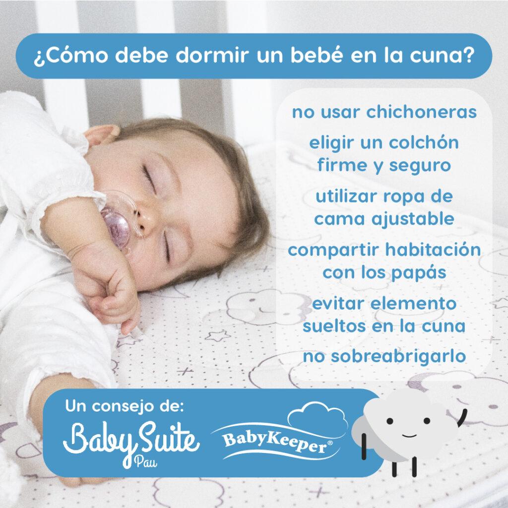 como debe dormir un bebe en la cuna